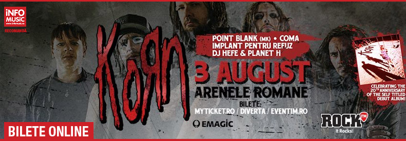 Bilete concert Korn Romania 2015