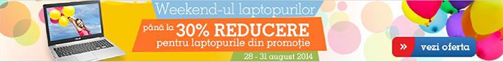 Weekend-ul laptopurilor la eMAG! Pana la 30% Reducere!