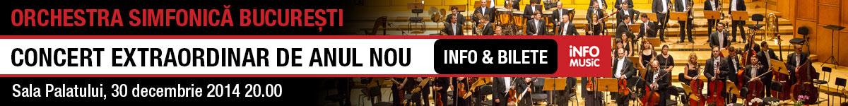 Informatii si bilete concert extraordinar de Anul Nou