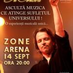 Yanni- 14 septembrie la Zone Arena