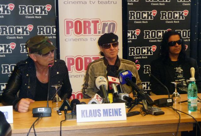 Conferinta de presa Scorpions Bucuresti 2011