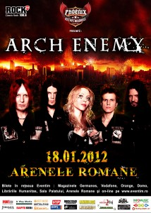 Arch Enemy concrteaza la bucuresti in 2012