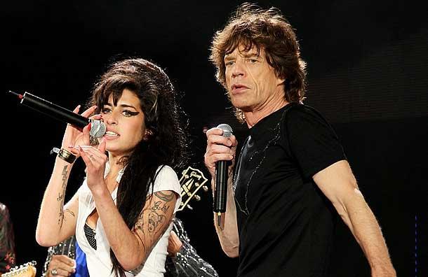 Amy Winehouse și Mick Jagger