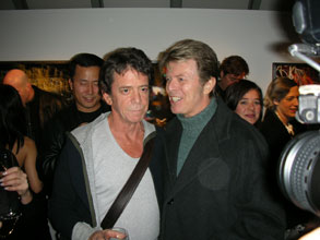 Lou Reed and David Bowie