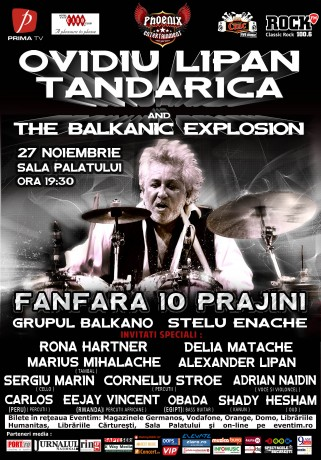 Ovidiu Lipan Ţăndărica and The Balkanic Explosion - afis