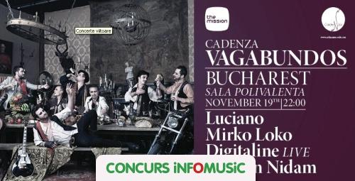 Castiga invitatii la Cadenza Vagabundos!