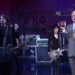 Foo Fighters and Joan Jett at Leterman Show