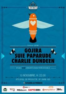Suie Paparude, Gojira și Charlie Dundeente, concert caritabil!