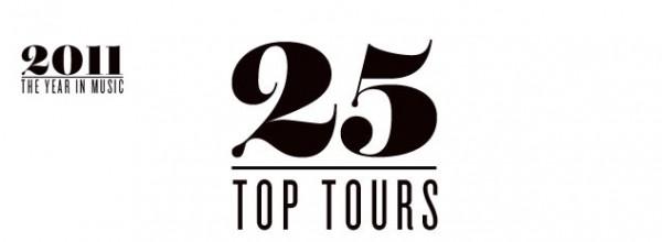 Top 25 turnee cu cele mai mari incasari 2011
