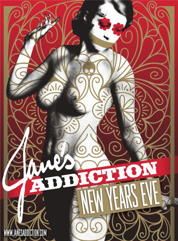 jane's addiction - poster new years eve