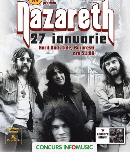 Castiga invitatii la concertul Nazareth