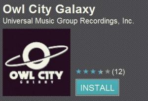 Owl City Galaxy App