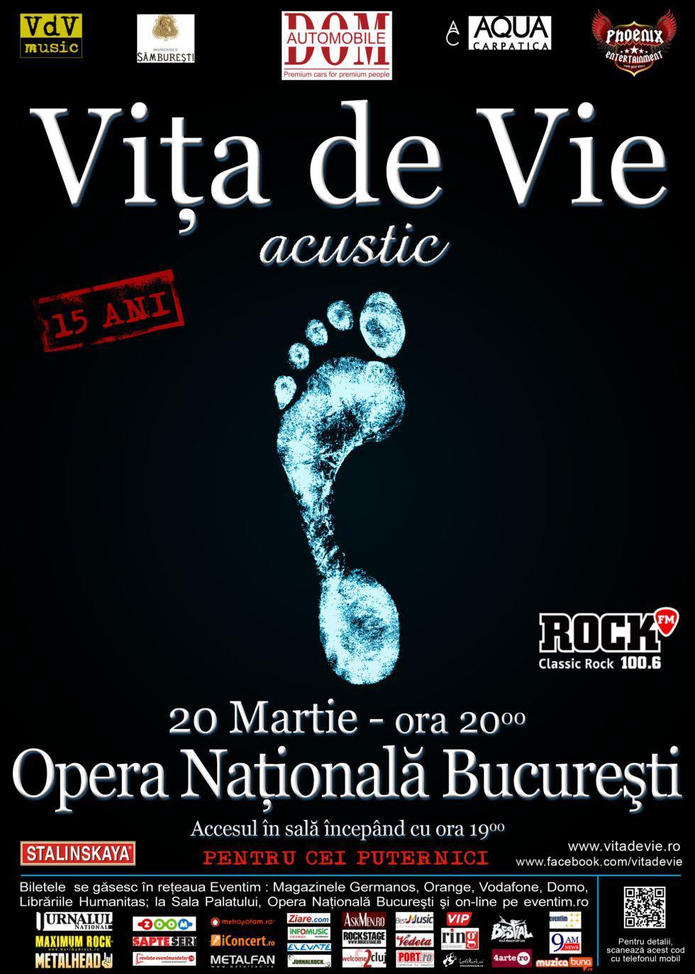 Vita de vie - 20 martie COnceert aniversar la Opera Romana
