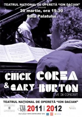 Poster eveniment Chick Corea şi Gary Burton