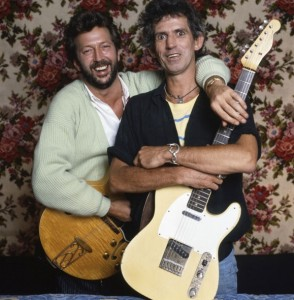 Keith Richards și Eric Clapton