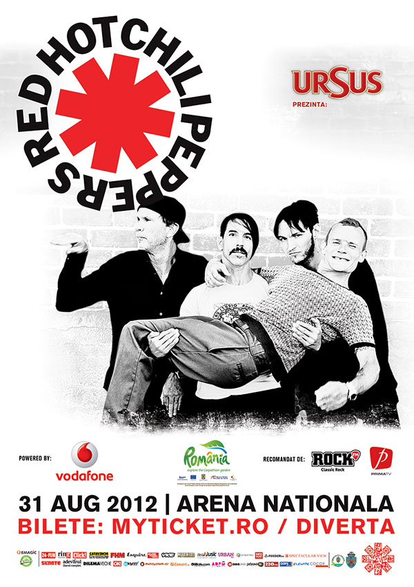 rhcp in romania - afis