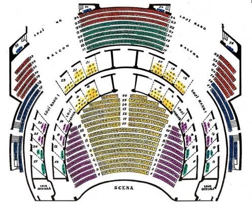 Planul locurilor din Sala Mare a Operei Nationale
