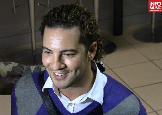 David Bisbal, conferință de presă pe aeroportul Henry Coandă (2012)
