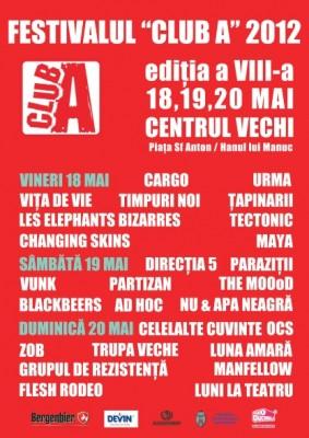 Festival Club A 2012 - program complet