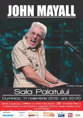 John Mayall va concerta la Bucuresti