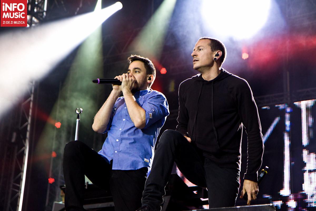 Chester Bennington și Mike Shinoda, Linkin Park la Bucuresti