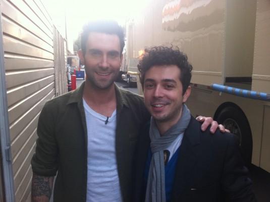 Marius Moga si Adam Levine (voce - Maroon 5)