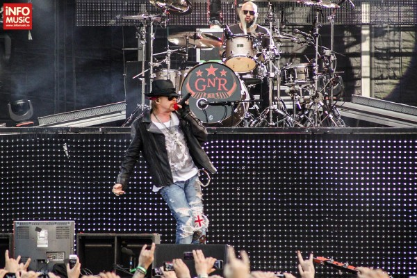 Axl Rose in concert la Rock the City 2012