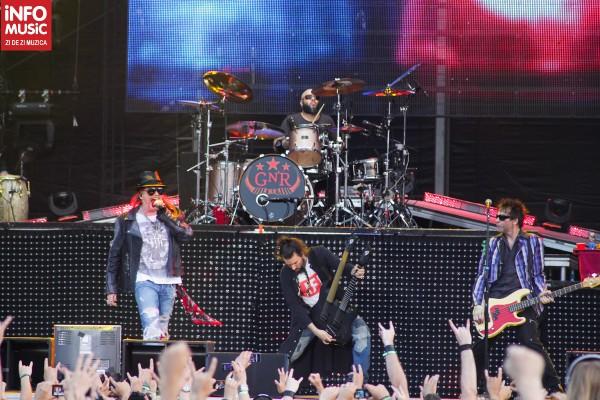 Guns N'Roses în concert la București pe 1 iulie 2012 - Rock The City