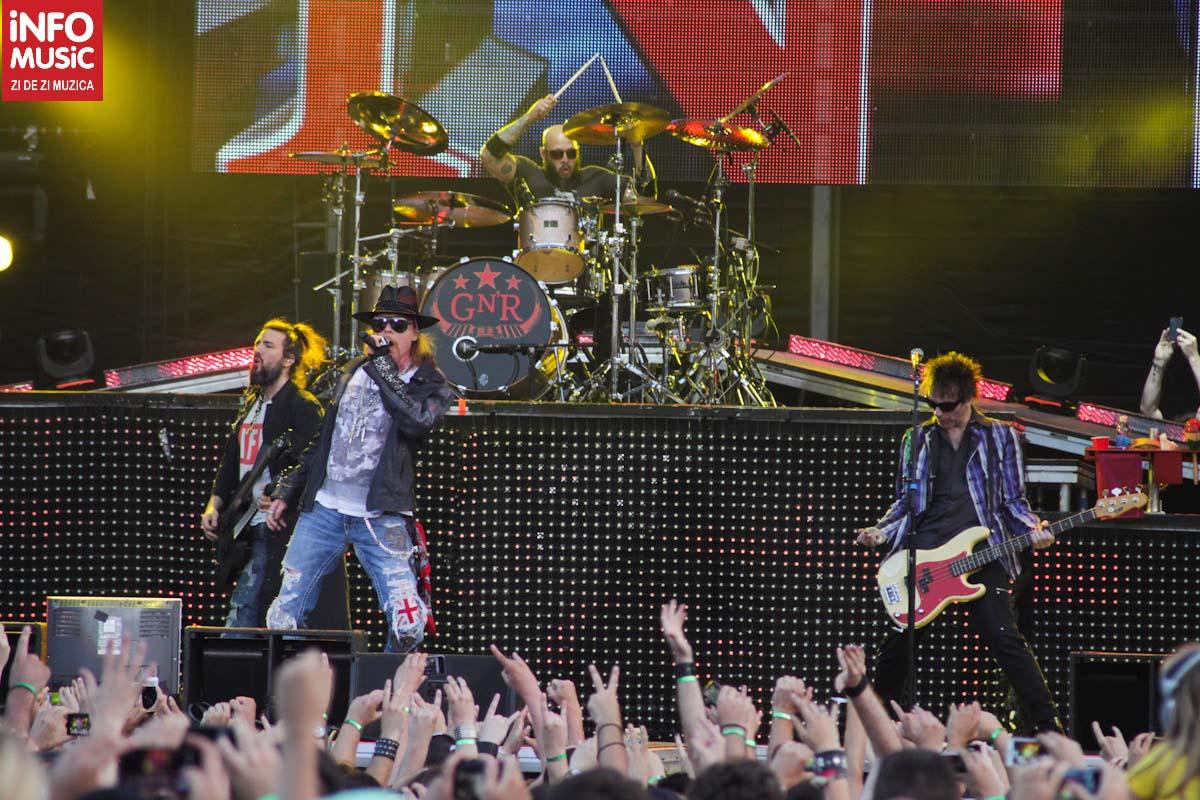 GN'R în concert la București