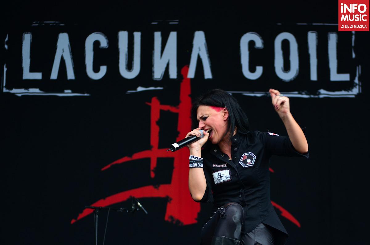 Cristina Scabbia cântă cu suflet la Rock the City 2012 (Lacuna Coil)