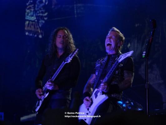Metallica live în Paris pe 12 mai 2012
