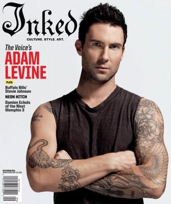 Adam Levine pe coperta Inked Magazine
