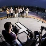 Noul videoclip a fost lansat pe acoperisul unei cladiri inalte din Bucuresti