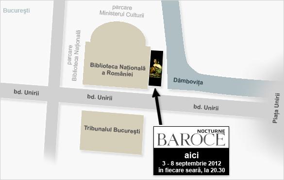 Hartă locație Festival Nocturne Baroce 2012