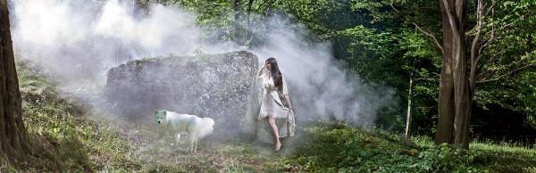 Paula Seling într-un cadru din videoclipul melodiei My Spirit Flies (filmul Brave în limba română)