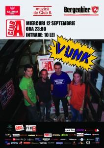 Concert Vunk 12 septembrie Club A