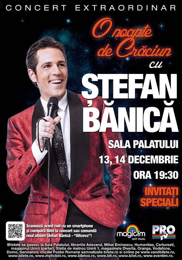 Ștefan Bănică - Afiș concerte de Crăciun 2012