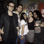 Alexandra Necula (InfoMusic) alături de trupa Changing Skins