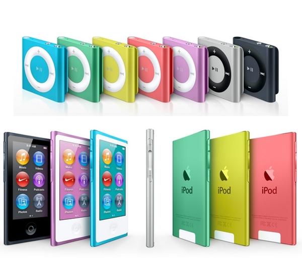 noile modele de iPod shuffle și iPod nano