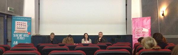 Premieră Și caii sunt verzi pe pereți - regizorul Dan Chișu alături de actorii Anca Florescu și Ionuț Vișan și de directorul de imagine Ovidiu Gyarmath