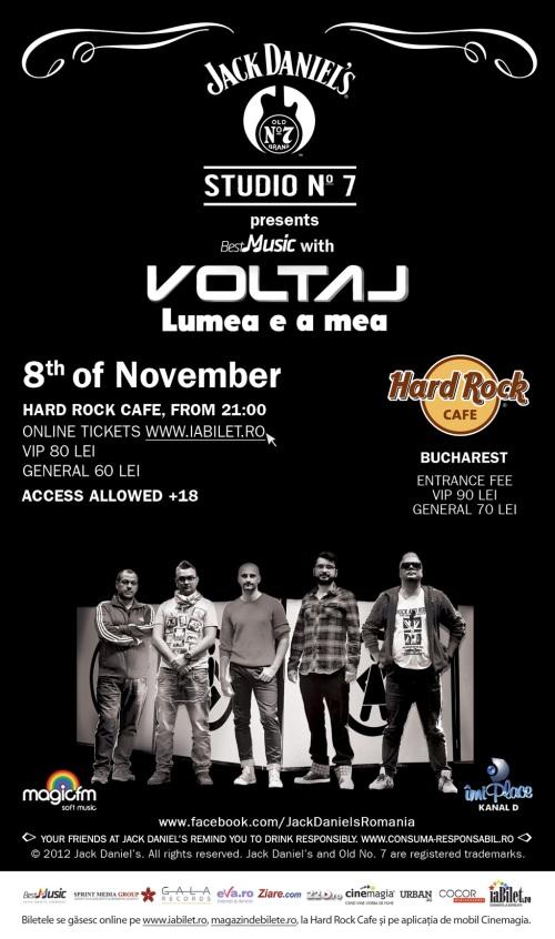 Voltaj la Hard Rock Cafe