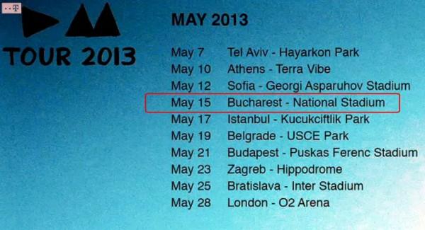 Concertul DEPECHE MODE la Bucuresti a fost confirmat
