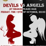 devils vs angels shakespeare bar 19 octombrie