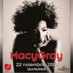 posterul concertului Macy Gray din noiembrie 2012
