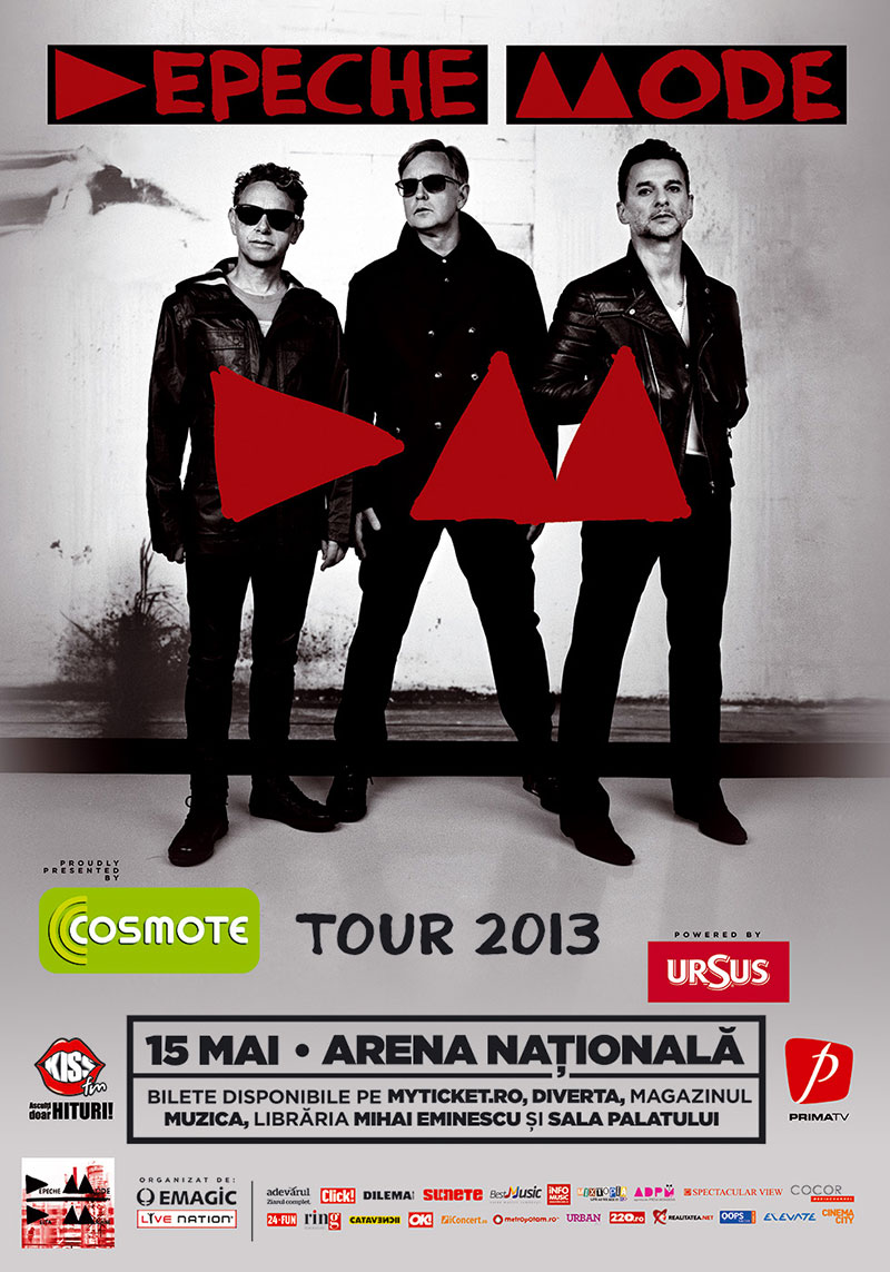 Concert Depeche Mode pe 15 mai la Arena Nationala