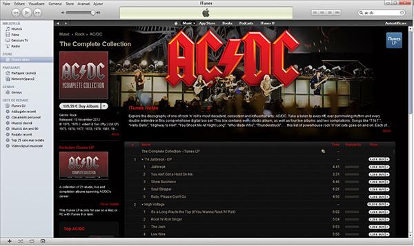 AC/DC in portofoliul iTunes