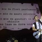 Cornel Ilie in timpul concertului VUNK de la Sala Polivalenta