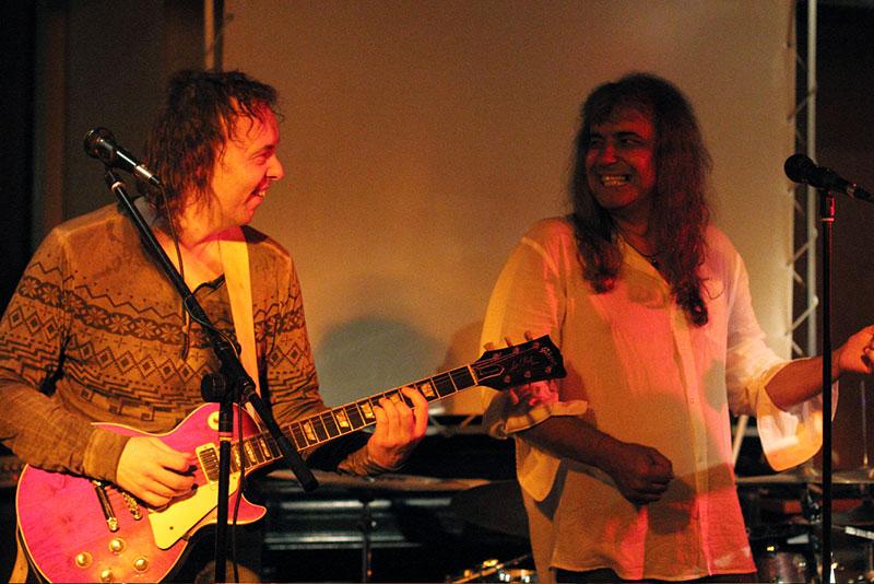 Secventa de la repetitii cu Cristi Minculescu si chitaristul Judy Seutter
