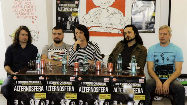 Trupa Alternosfera: Sergiu Aladin, Marin Nicoară, Marcel Bostan, Vicosh, Anatolii Pugaci