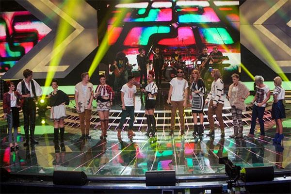 Imagine de la a cincea gală X Factor Romania
